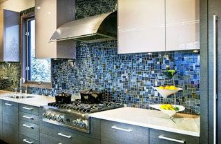 蓝色瓷砖效果图