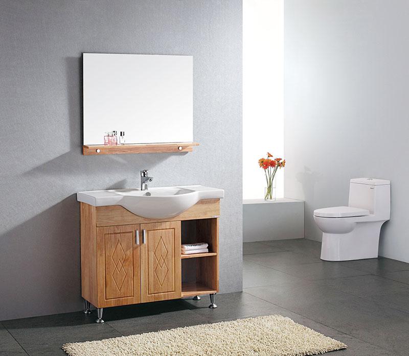 原木色浴室柜图片