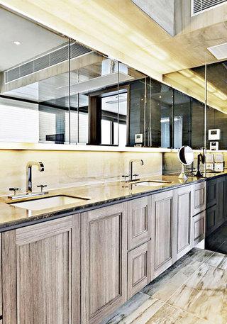 灰色浴室柜效果圖