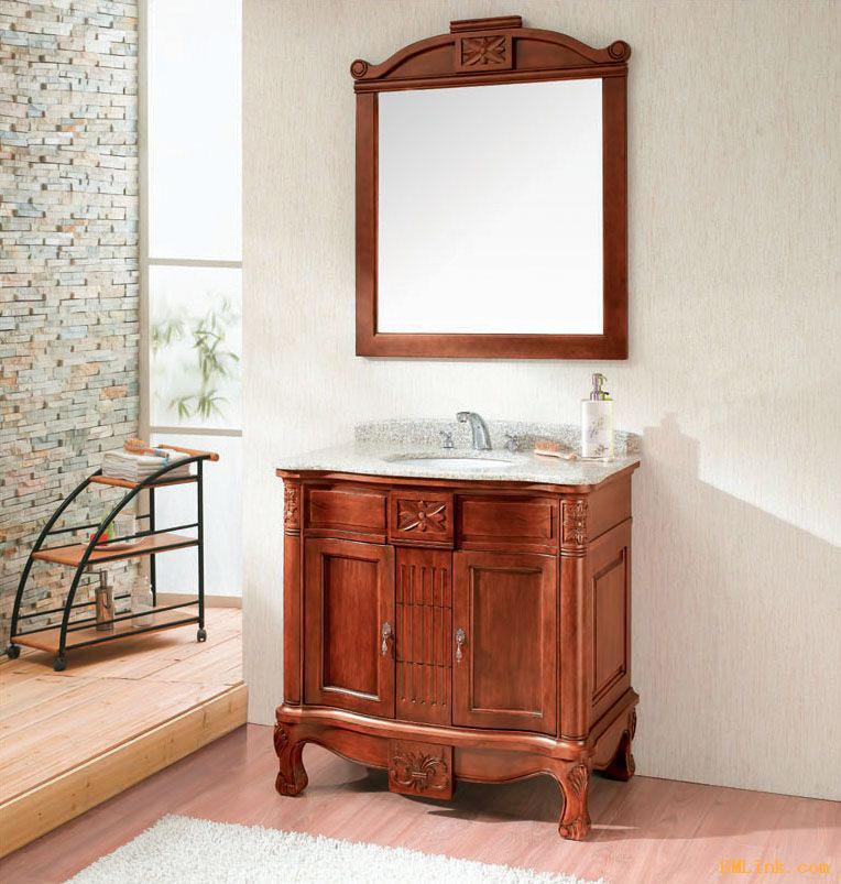 实木浴室柜设计图