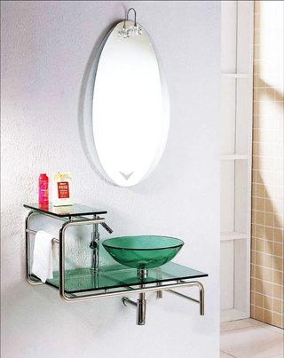 绿色浴室柜效果图
