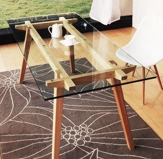 小型玻璃餐桌设计图