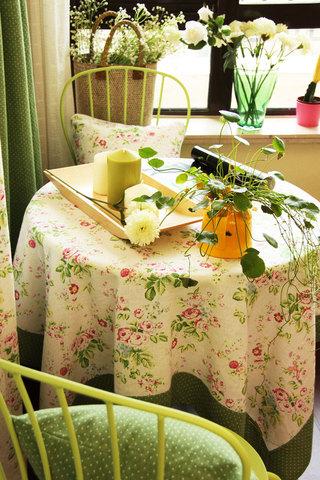 绿色餐桌布设计图