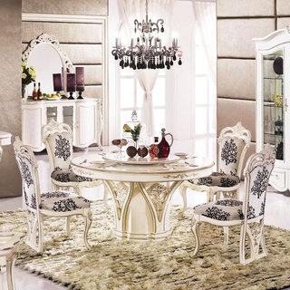 白色餐桌效果图