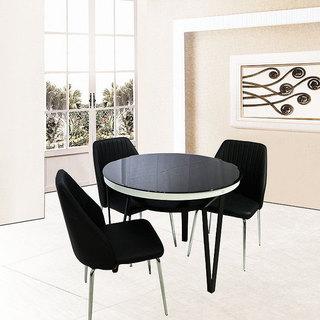 黑色餐桌效果图