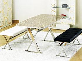 14张天然大理石餐桌图片 简洁实用