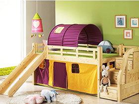 休息玩耍两不误 14张儿童滑梯床设计图片
