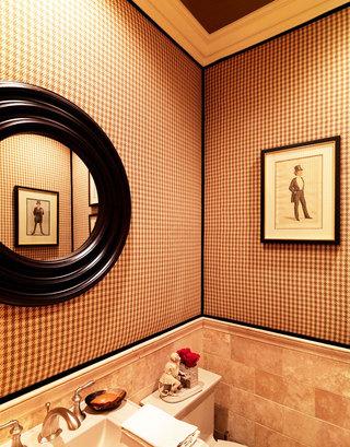红色卫生间瓷砖效果图