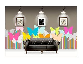 唯美手绘墙设计图