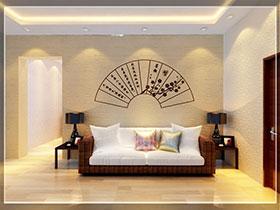 15张硅藻泥沙发背景墙图片 简洁大方