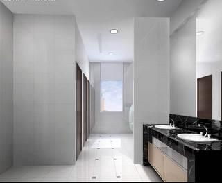 黑白洗手台效果图