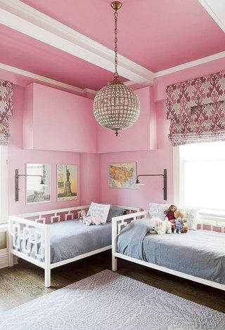 粉色卧室吊顶效果图