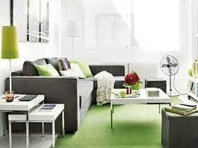 时尚浅灰色北欧公寓装修 果绿色十分可爱