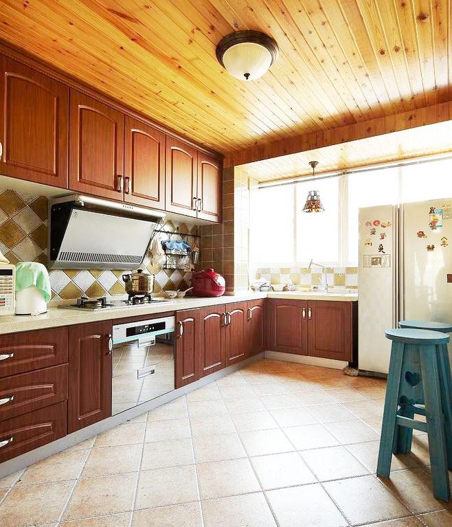实木厨房吊顶效果图