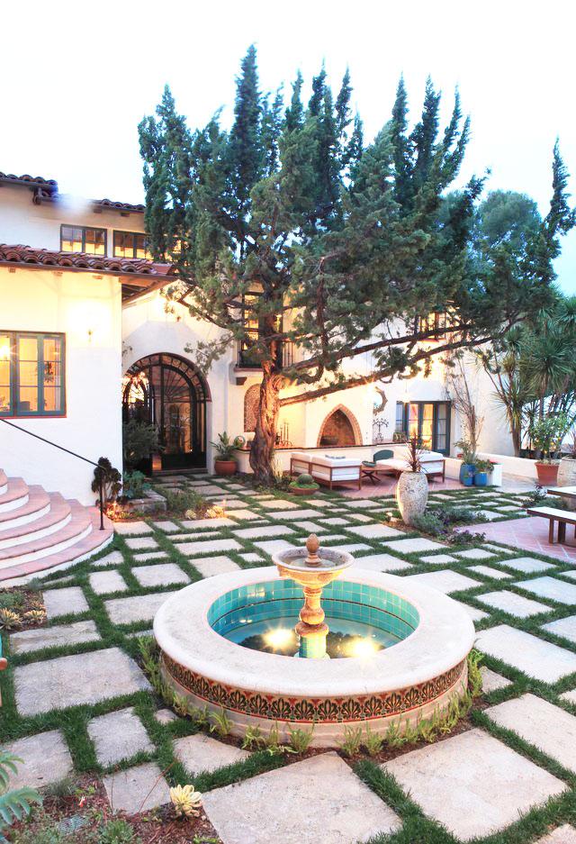 地中海庭院图片