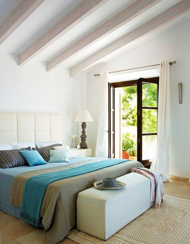 田园卧室吊顶图片