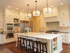 15张欧式风格厨房灯具装修效果图欣赏