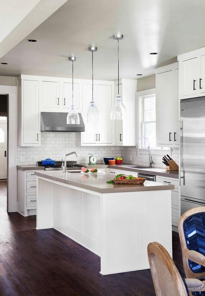 现代简约风格厨房灯具装修图片