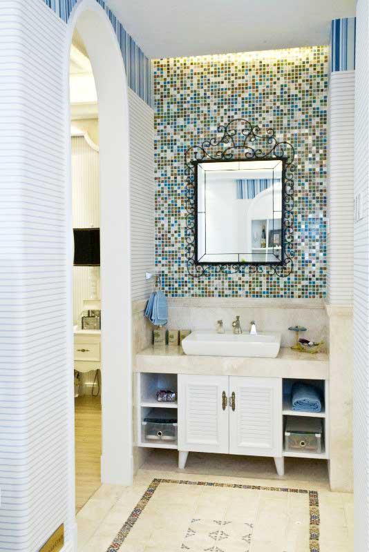 地中海浴室柜效果图