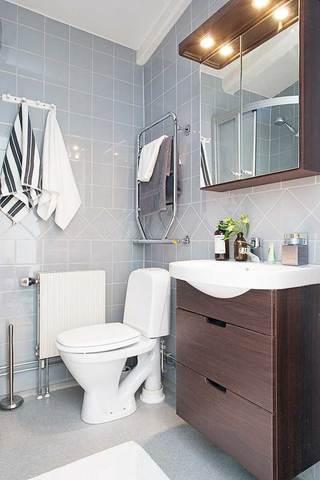 红色浴室柜效果图