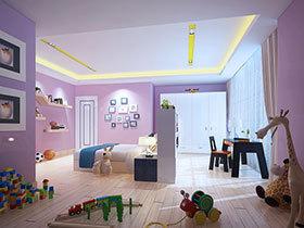 12张儿童房吊顶图片 可爱范儿十足