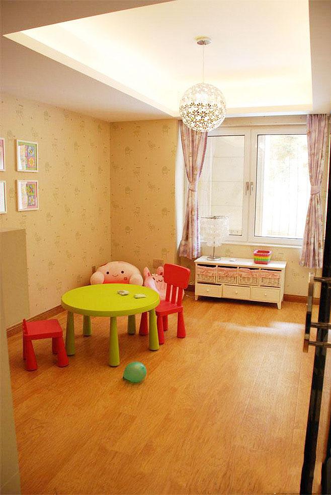 现代简约三居室儿童房吊顶装修效果大全2014图片