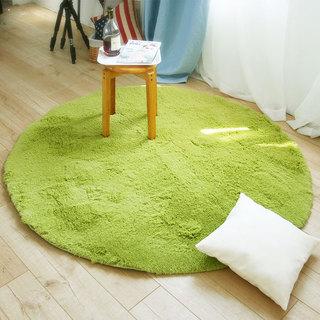 绿色圆形地毯设计图