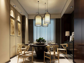 儒雅中式风 13款中式餐厅设计图