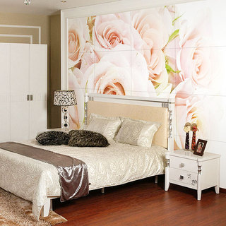 卧室背景墙瓷砖效果图