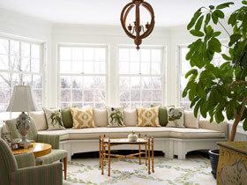 惬意欧式飘窗 13款欧式客厅飘窗设计