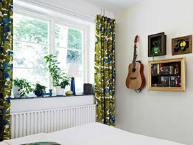 环绕春的气息 14款绿色飘窗窗帘