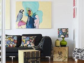 家居中的亮丽风景线 13张客厅装饰画图片