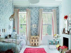 清新条纹窗帘 13款飘窗窗帘效果图