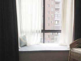 神秘而浪漫 14款白纱飘窗窗帘效果图