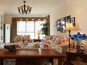 质朴乡村美式田园风三居室  让你生活在花园中