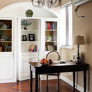 美式清新书房设计效果图