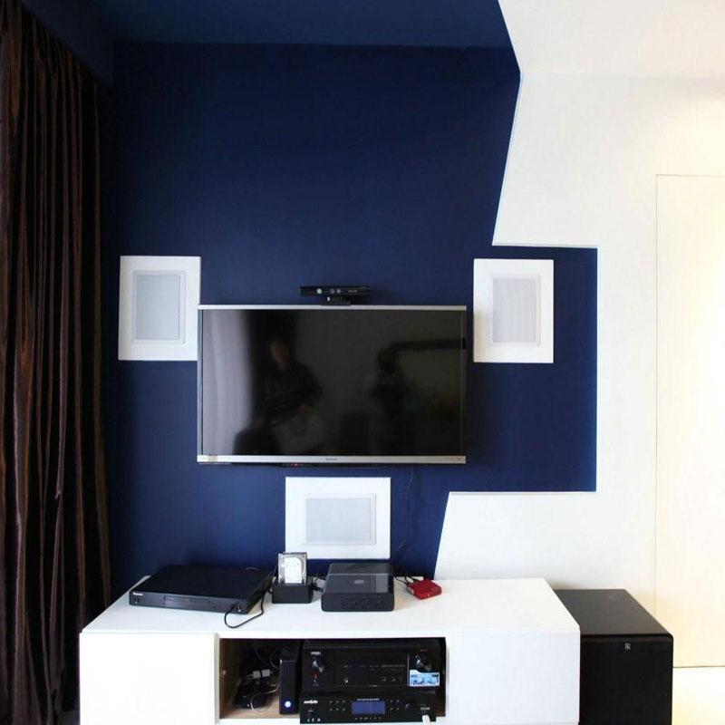 时尚电视背景墙设计图片