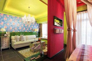 现代简约风格二居室时尚70平米装修效果图