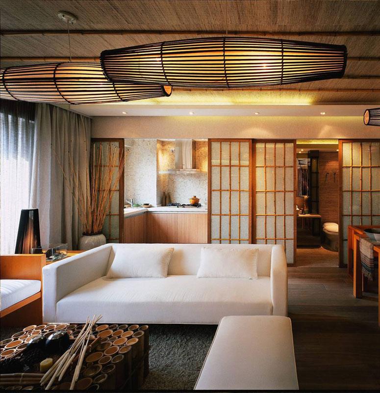 新中式清新客厅设计效果图