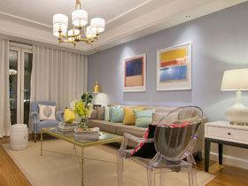 优雅现代美式混搭 这样的三居室很适合当样板房