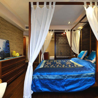 东南亚风格卧室设计效果图
