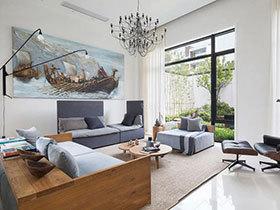 一画点睛 14款客厅装饰画背景墙推荐