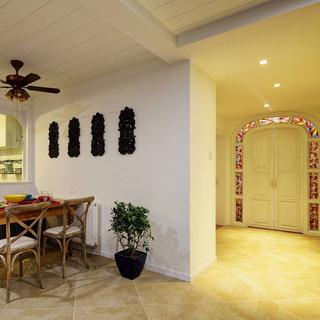 混搭风格三居室100平米效果图