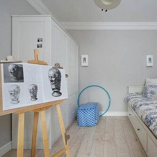 美式风格二居室90平米效果图