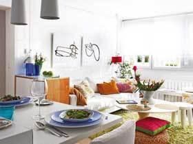 清新淡雅宜家风一居小公寓 如花园般的空间