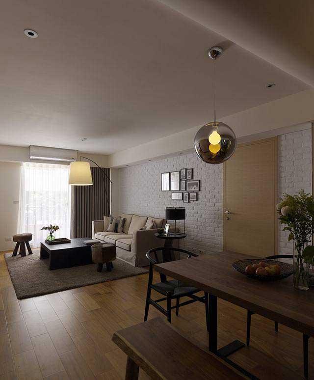 中式风格二居室90平米效果图