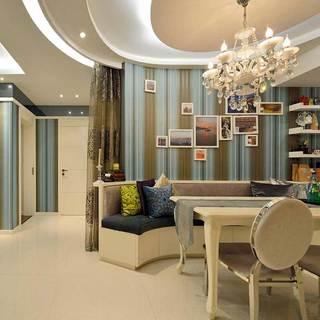 简欧风格二居室80平米装修图片
