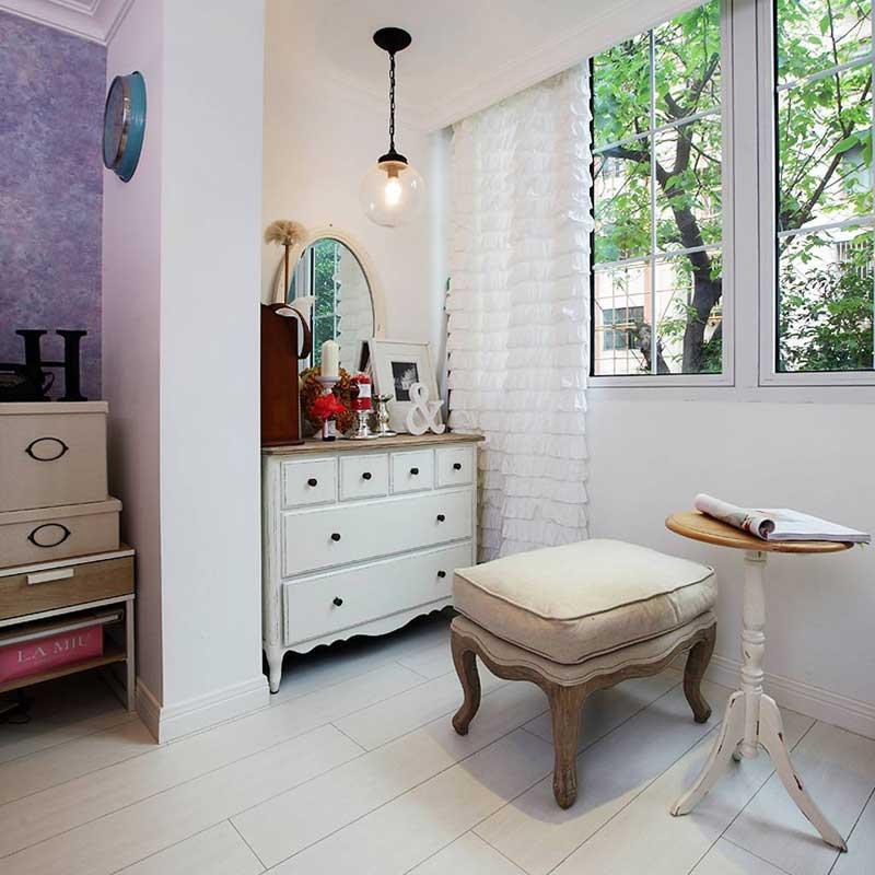 一居室小清新50平米婚房设计图