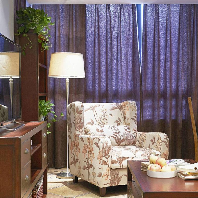 美式清新单人沙发设计图片