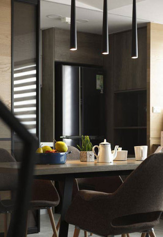 现代简约风格二居室90平米效果图